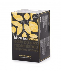 Vintage Teas herbata Black Tea Lemon - 30 torebek